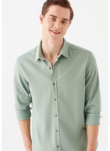 Mavi Yeşil Gömlek Yeşil